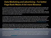 Data Marketing and advertising - Far better Page