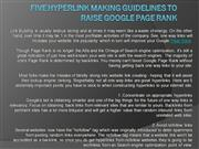 five Hyperlink Making Guidelines to Raise Google Page