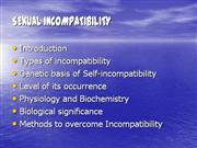 SEXUAL Incompatibility. opa