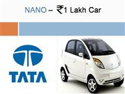 TATA�S Rs 1 lakh car NANO