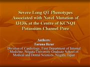 severe long qt phenotypes associated with mutation of k+ channel