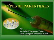 Types of Parentrals
