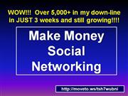 make money social networking online money