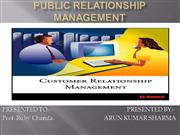 PUBLIC RELATIONSHIP MANAGEMENT