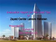 Evaluation Report on Pile Load Test