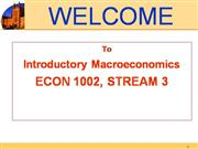 lecture 1 ; introductory macroeconomics - econ1001