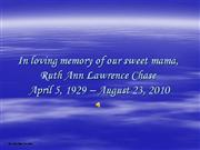 In loving memory - Ruth Chase (embedded)