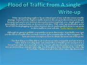 Site Traffic - How to obtain a Flood