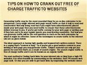 Tips on how to Crank out Free of