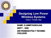 designing low power wireless system