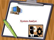 system analyst