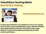 VisionEdCare Teaching and Learning Matrix