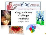 Ultimate Blog Challenge August Finishers