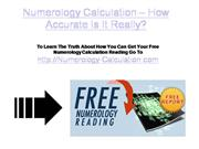 numerology calculation - how accurate is it really