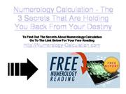 numerology calculation - the 3 secrets that are holding you back from