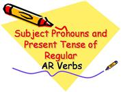 present tense of regular ar verbs