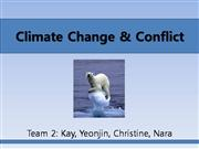 Climate Change & Conflict
