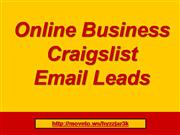 online business craigslist email leads