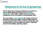 Welcome to Emco Engineering