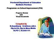 Programme on School Improvement (PSI) - Northern Province Sri Lanka