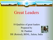10.Qualities of a Leader