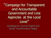 Campaign for Transparent  and Accountable Government and line Agencies