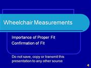 Wheelchair MeasurementsVO