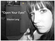 elouise lang - open your eyes