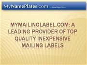 MyNamePlates Carries Dozens of Name Plate Designs