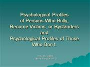 Psychological Profiles