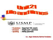 Unit 21: Life and Times