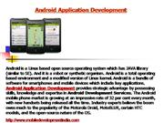 Android Application Development - Android Application Developers