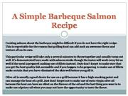 a simple barbeque salmon recipe