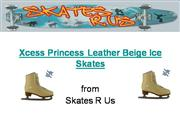 Xcess Princess Leather Beige Ice Skates
