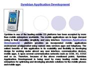 Symbian Application Development - Symbian  Application Developers