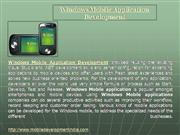 Windows Mobile Application Development - Windows Mobile  Apps Develope