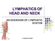 LYMPHATICS OF HEAD AND NECK