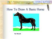 How To Draw A Basic Horse