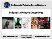 Indonesia Private Detectives