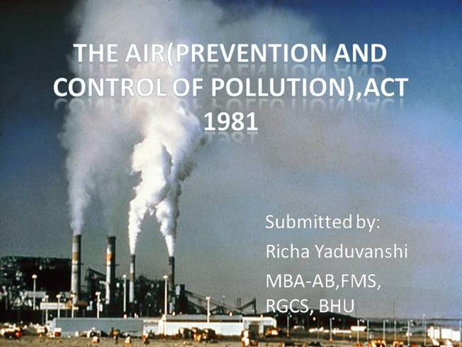 short essay on air pollution in india
