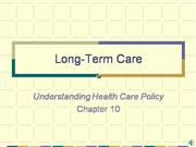 MGT 388 Week 6 Audio Lecture -LTC and Illness Prevention