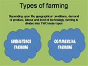 types of farming