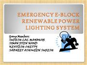 EMERGENCY E-BLOCK RENEWABLE POWER LIGHTING SYSTEM