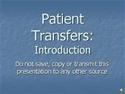 Patient Transfers IntroVO