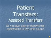 Patient Transfers AssistedVO