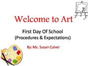 First Day Of School susans powerpoint