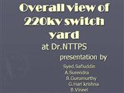 Overall view of 220kv switch yard