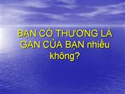 Ban hay bao ve la gan- Artist:HPL (translated from an English version)