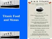 food served in titanic