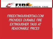 FireExtinguisherTag Provides Durable Fire Extinguisher Inspection Tags